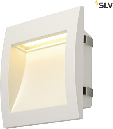 SLV Lámpara LED empotrable de pared para iluminación exterior de paredes, caminos, entradas, escaleras, exteriores, lámpara de pared, iluminación LED para escaleras, lámpara de pared, foco de pared: Amazon.es: Hogar