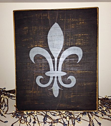 Rustic FLEUR DE LIS Wood Custom CHOOSE COLOR Sign