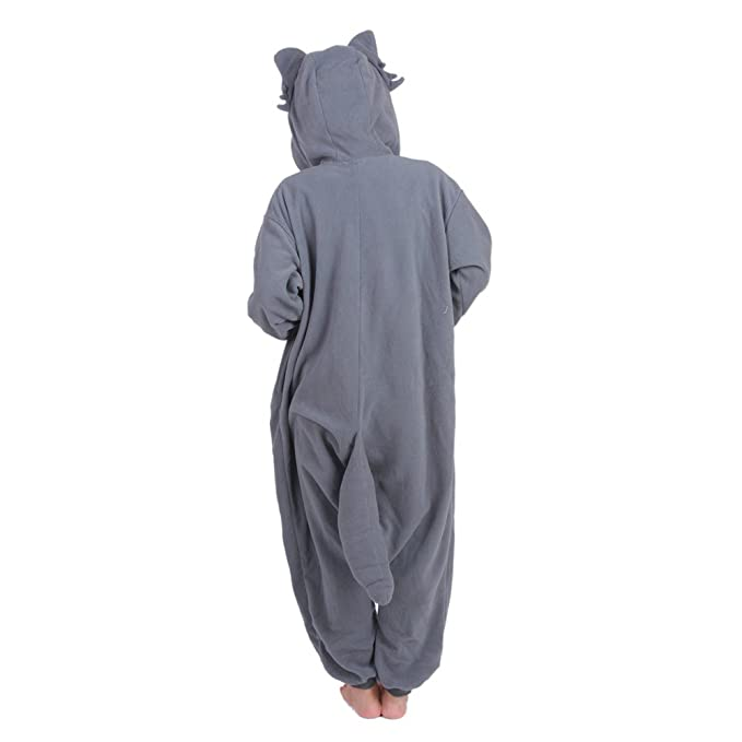 Amazon.com: Tri-Better Grey Wolf Onesie Pajamas Hooded Kigurumi Unisex Cosplay Costumes: Clothing