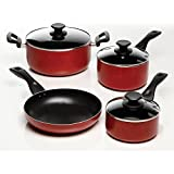 Oster 91440.07 Telford 7-Piece Cookware Set, Red