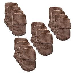 BCP 16pcs Knitting Wool Furniture Socks/ Chair Leg Floor Protector (Brown Color)