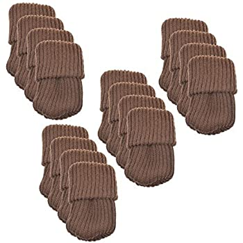 BCP 16pcs Knitting Wool Furniture Socks/ Chair Leg Floor Protector (Brown  Color)