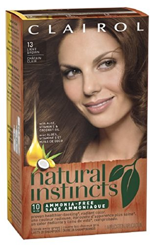 Price comparison product image Nat 13 Suede Size Kit Clairol Natural Instincts Light Brown Color Treatment #13