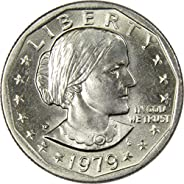 1979 P Wide Rim Near Date $1 Susan B Anthony SBA Dollar Coin BU Uncirculated