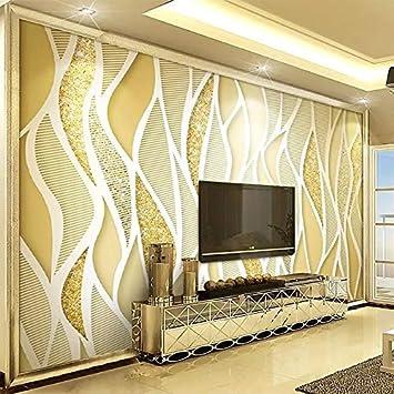 Foto Wallpaper Europea Stile 3D Stereo Oro ... - Amazon.com