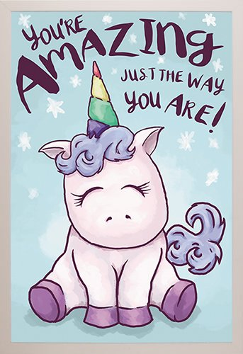 Unicorn Amazing Poster in a White Plastic Frame  29295-PSA03