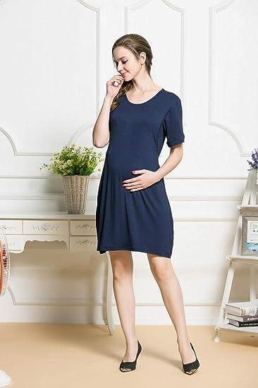 BBsmile Ropa premamá, Ropa Embarazadas Madre de Mujer Embarazadas Casual Bebé de enfermería para la Maternidad Vestido de Color sólido: Amazon.es: Ropa y ...