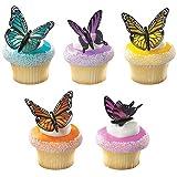 DecoPac Butterflies DecoPic Cupcake Picks (2-Pack of 12)
