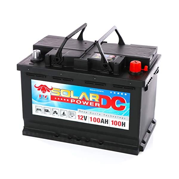 51hLNBym TL Solarbatterie 100Ah BIG 12V Versorgungsbatterie Boot Caravan Wohnmobil Batterie