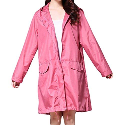 Outdoor Poncho Pioggia Da Giacca Juleya Cappuccio Rosso Donna Lunga Traspirante Impermeabile Rainwear Con nAwCqwvz