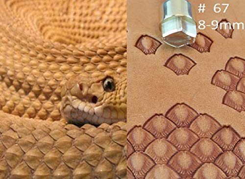 Snake Skin Leather Crafting Stamp Tool for Leather Crafts Brass #67