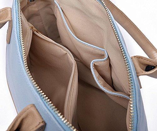 Sac bleu conception crème à Colourblock bandoulière main à Multicolore de NEW Mesdames sac bowling de 8qqSOz6