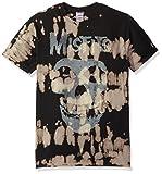 FEA Mens Misfits Classic Fiend Skull W/Big Bleach Spots T-Shirt