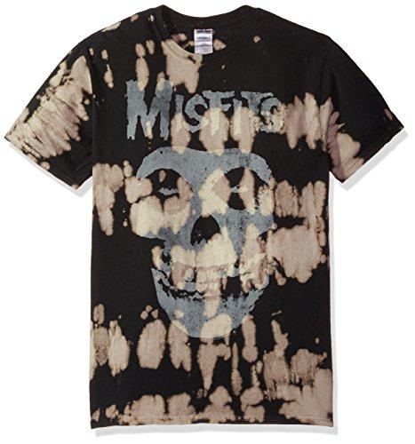FEA Misfits Classic Fiend Skull W/Big Bleach Spots Mens T-Shirt
