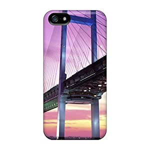 Free Walking Case For Iphone 5/5s With Nice Beautiful Bridge In Pastel Colors Appearance