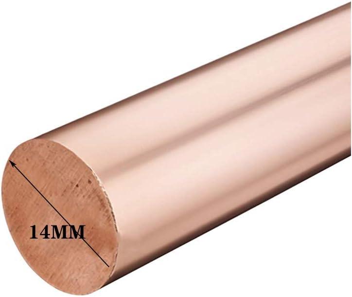 OLJF Cobre Di/ámetro de Varilla Maciza Longitud 500mm-tratamiento de Metales Di/ámetro:,14mm