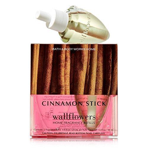 Bath & Body Works, Slatkin & Co, Wallflowers Home Fragrance Bulb Refills in Cinnamon Stick[ 1 Package= 2 -