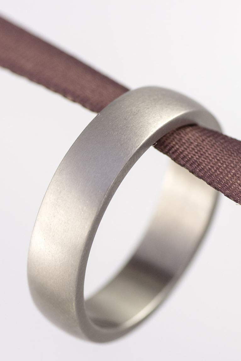 It is just a photo of Amazon.com: Handmade Titanium Simple Wedding Band – Custom Made