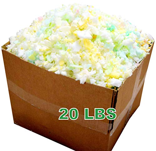 Bean Products Shredded Foam Fill - 20 LBs - All New Recycled Refill for Bean Bags, Pet Beds, Pillows. Made in USA