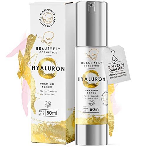 *NEU* Original BeautyFly Hyaluron Serum I 50ml Natürliche Hyaluronsäure Anti-Aging Creme I Dermaroller geeignet I Naturkosmetik Made in Germany I Familienbetrieb aus Heidelberg