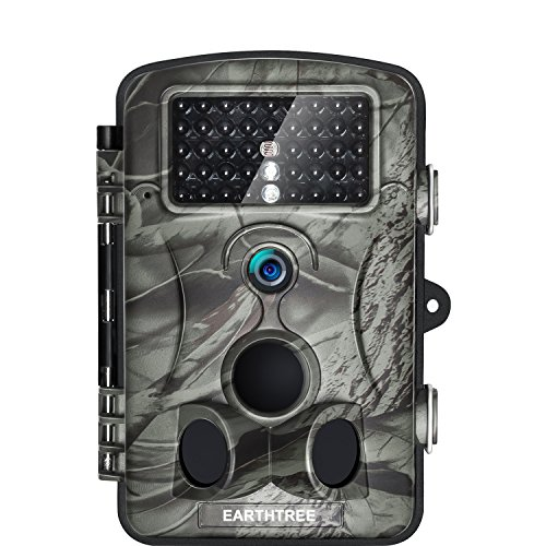 Earthtree Trail Camera 12MP 1080P FHD Game Hunting Camera with 120° Wide Detection Angel 42PCs 940nm IR LEDs Night Vision, 2.4'' LCD Display Wildlife Camera with IP54 Waterproof by Earthtree
