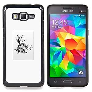"Qstar Arte & diseño plástico duro Fundas Cover Cubre Hard Case Cover para Samsung Galaxy Grand Prime G530H / DS (Goldfish tribal"")"