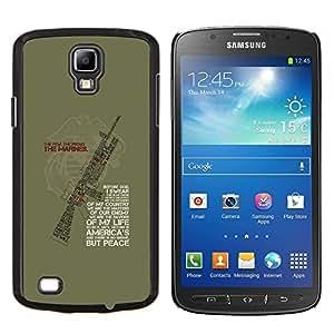 EJOOY---Cubierta de la caja de protección para la piel dura ** Samsung Galaxy S4 Active i9295 ** --Soldado Maestro Sarge