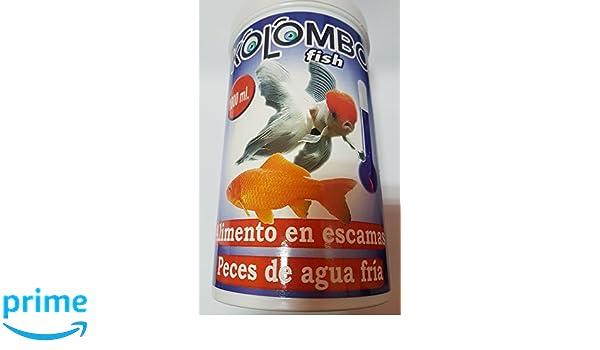 Alimento en escamas para peces de agua fria Kolombo (Bote 1000 ml): Amazon.es: Productos para mascotas
