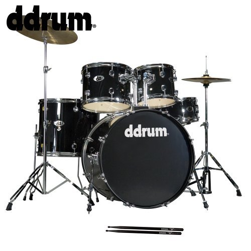 ddrum D2-MB-KIT-2 D2 5-Piece Drum Kit with Cymbals and 200 Series Hardware - Black (Ddrum Sets Cymbals)