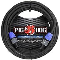 Pig Hog PHSC50S14 14 Gauge Speaker Cable Speakon to 1/4 inch, 50 ft