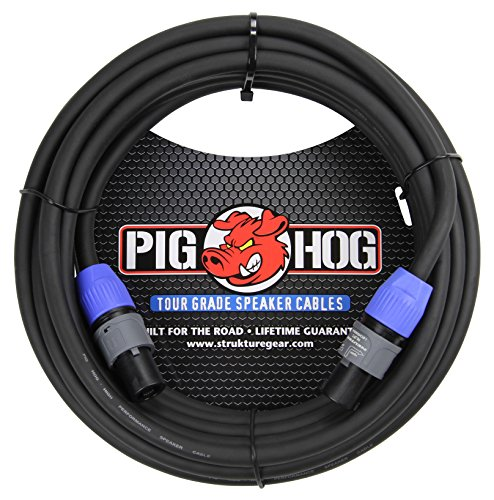 Pig Hog PHSC25SPK 14 Gauge Speaker Cable Speakon to Speakon, 25 ft by PigHog