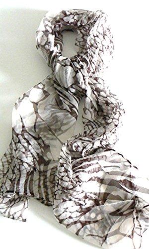 Silk Salon Oblong 100% Silk Scarf Belt Hand Rolled Edges Webs A733