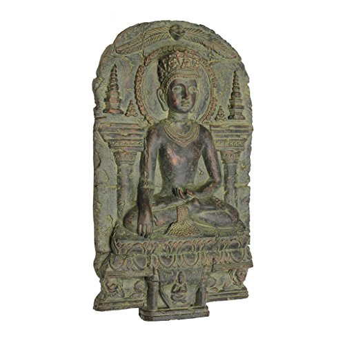 Earth Sculpture - Design Toscano Earth Witness Buddha Wall Sculpture (c. 900-1200 A.D.)
