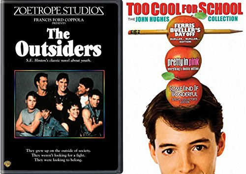 The Outsiders 80's Ferris Bueller's Day Off / Pretty in Pink / Some Kind of Wonderful DVD Set double feature bundle Too Cool for School - The John Hughes Collection