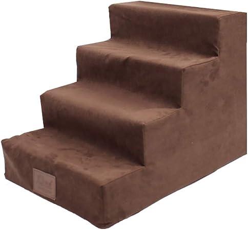 GUOF Escaleras de Perro Escalera pequeña para Perros, peldaño Grande para Mascotas para Cama Alta y sofá, Lavable a máquina, Desmontable, Fondo Antideslizante Escalera Mascota pequeña (Size : 4 Step): Amazon.es: Hogar