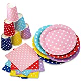 "LolliZ® Luncheon Napkins, 12 Pcs Polka Dots Red, 13"" X 13"" 2-Ply"