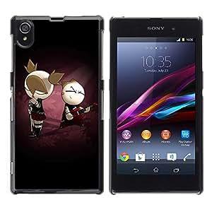Be Good Phone Accessory // Dura Cáscara cubierta Protectora Caso Carcasa Funda de Protección para Sony Xperia Z1 L39 C6902 C6903 C6906 C6916 C6943 // Cute Punk Couple