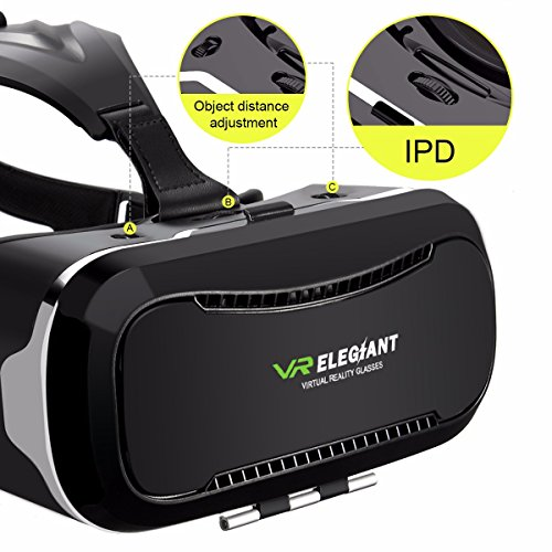 VR Headset,ELEGIANT 3D VR Glasses Virtual Reality Box for 3D Movies Video Games, for iPhone 7 Plus 6 Plus 6s Samsung S7 S6 Edge S5 Note 5 Other 4.0-6.0 Inches Smartphones Photo #4
