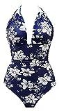 B2prity Women's One Piece Swimwear Backless Tummy Control Monokini Swimsuits,5,XL/US(16-18)