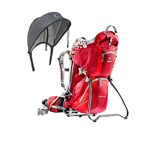 deuter-kid-comfort-2-cranberry-fire-kid-carrier-with-sun-roof-and-rain-shield