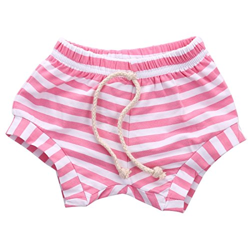 Bloomers Terry - Baby Boy Girl Striped Training Pants Summer French Terry Shorts Drawstring Toddler Underwear Pink 2-3Y