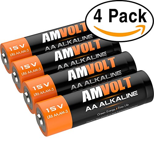 4 Pack AA Batteries [Ultra Power] Premium LR6 Alkaline Battery 1.5 Volt Non Rechargeable Batteries for Watches Clocks Remotes Games Controllers Toys & Electronic Devices - 2020 Expiry Date
