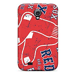 Hot Design Premium VHz235LCWE Tpu Case Cover Galaxy S4 Protection Case(boston Red Sox)