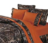 HiEnd Accents Hunter's Sheet Set, Twin, Orange
