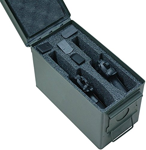 Case Club 2 Pistol Holder .50 Cal Ammo Can Foam (Pre-Cut, Closed Cell, Military Grade Foam)