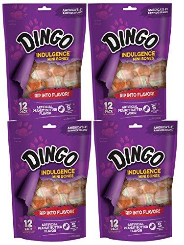 Dingo Indulgence Mini Bones, Peanut Butter Flavor, 48-Count