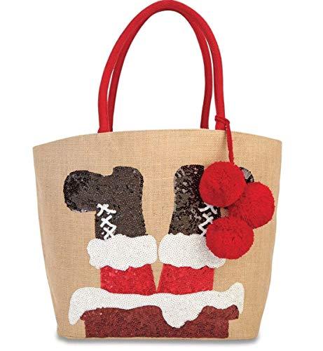 Mud Pie Christmas Dazzle Tote Bag Chimney]()