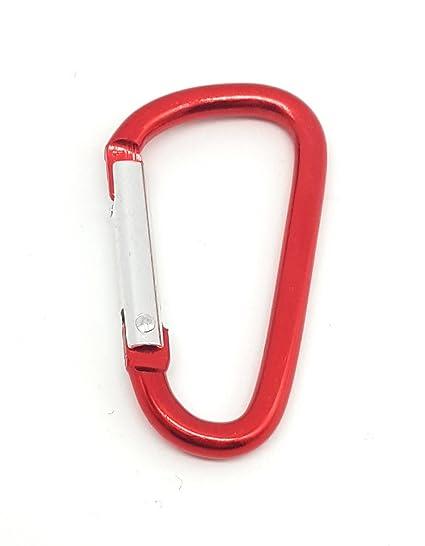 De aluminio Mosquetón 10 unidades en rojo para manualidades ...