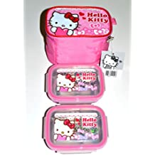 Hello Kitty Bento Lunch Bag Set w/ Thermal Lunch Boxes