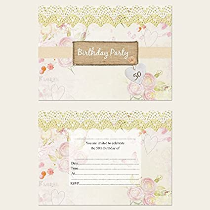 Vintage Country Garden Birthday Party Invitations